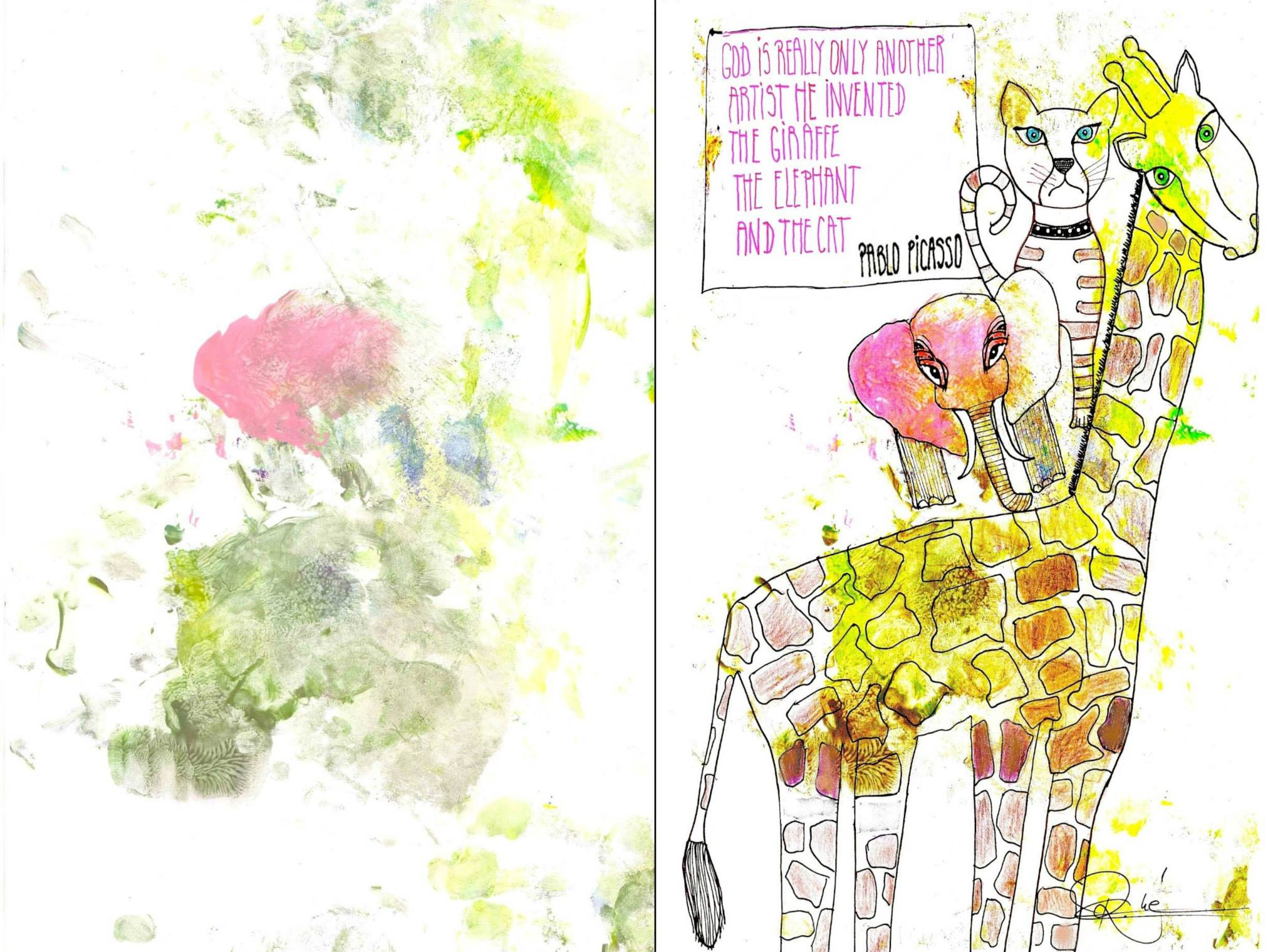 THE GIRAFFE, THE ELEPHANT AND THE CAT
