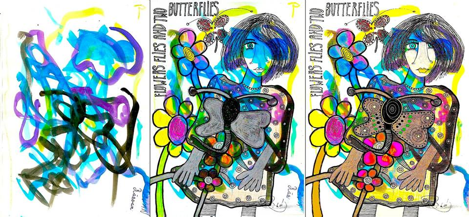 TWO BUTTERFLIES (the making of)